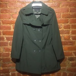 THE LIMITED DOUBLE BREASTED SHORT TRENCH COAT